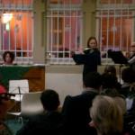 Britta Roscher mit Flötenensemble