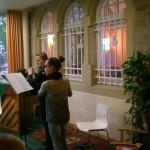 Flötenensemble begleitet von Britta Roscher