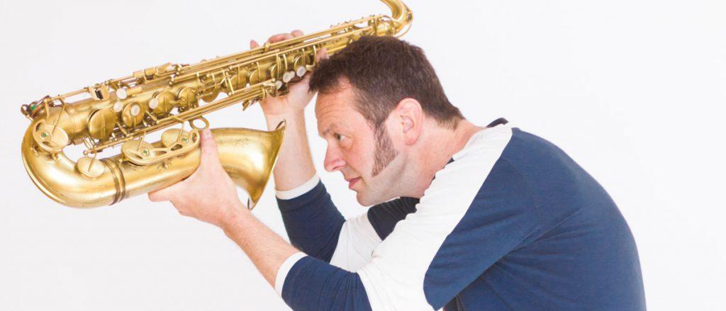 Uli Christlein mit Saxophon